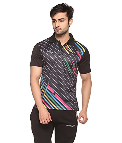 f3895fbbbab093 Buy Sport Sun Ployster Half Sleeve Polo T Shirt Black (L) Online at ...