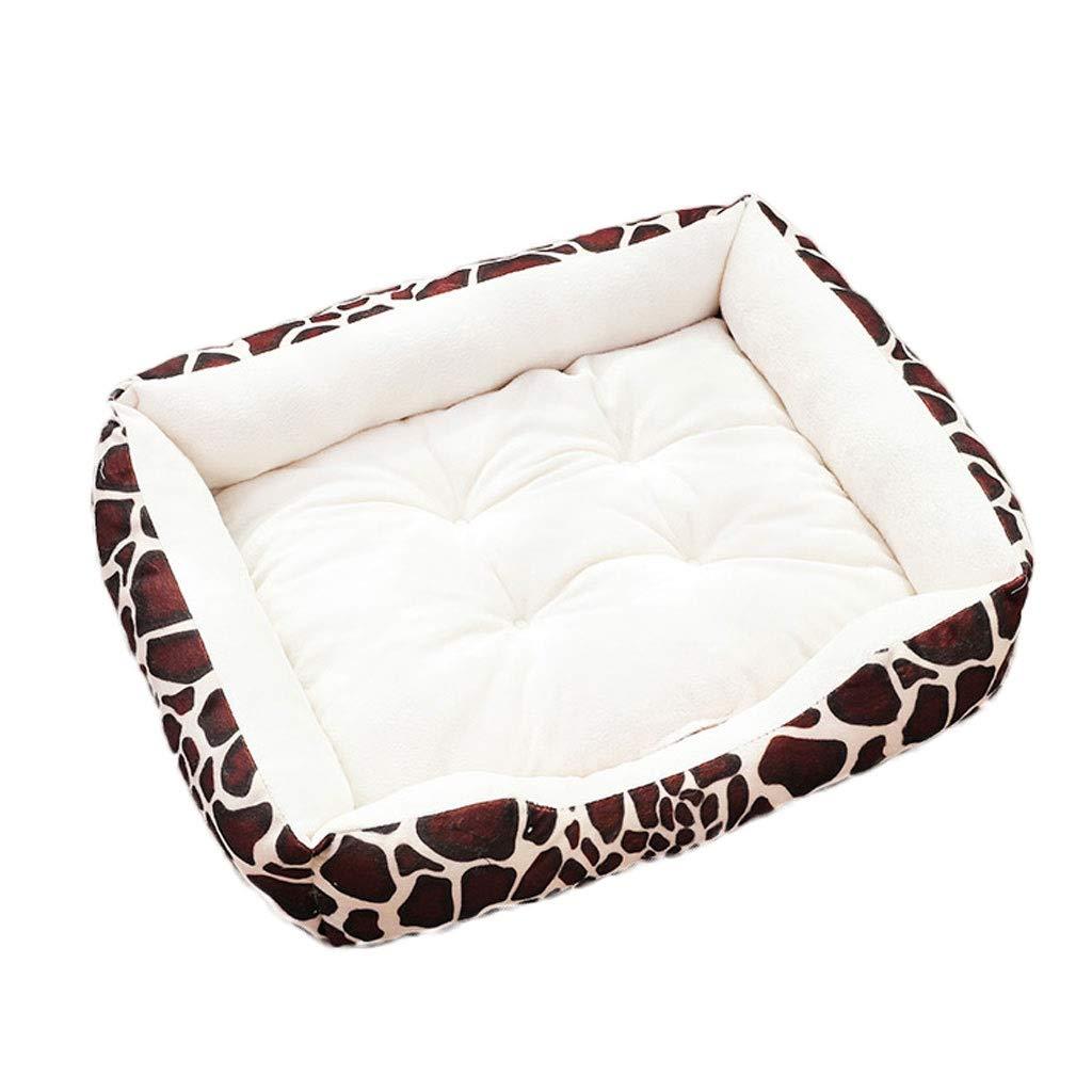 A 50×70cm A 50×70cm S Curve Pillow Pet Nest, Home Teddy Large Medium Small Cat Dog Bed, Outdoor Non-Slip Square Pet Pad (color   A, Size   50×70cm)