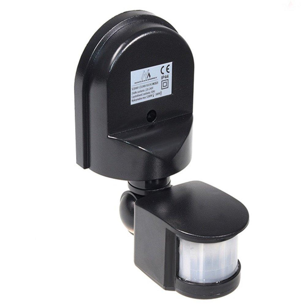 Maclean MCE25 Detector de movimiento, Sensor por infrarrojos, 180 ° , sensor para exterior empotrable en la pared con tapa 180°