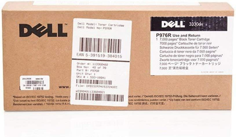 Dell P976R Black Toner Cartridge 3330dn Laser Printer