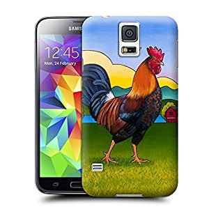 Unique Phone Case Roosters and chickens painting books Hard Cover for samsung galaxy s5 cases-buythecase