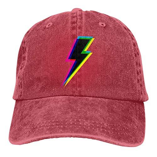 (CMYK Lightning (Black) Unisex Adjustable Vintage Cowboy Hat Denim Baseball Caps)
