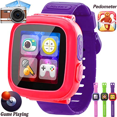 GBD Kids Game Smart Watches [AR Pro Edition] for Boys Girls Holiday Birthday Gifts with Pedometer Timer Camera Alarm Clock Sport Wrist Watch Kids Electronic Learning Toys (Purple)