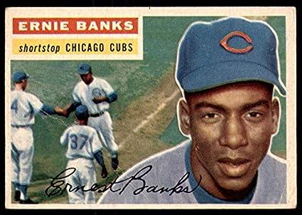 8a7dc7d244e Amazon.com  1956 Topps  15 Ernie Banks DP G-VG Cubs  Collectibles ...
