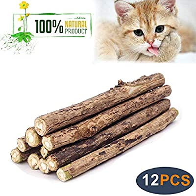 CatNip for Cats WoLover Silvervine Sticks for Cats, Natural Catnip Sticks Matatabi... [tag]