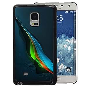 A-type Arte & diseño plástico duro Fundas Cover Cubre Hard Case Cover para Samsung Galaxy Mega 5.8 (Blue Music Wave Abstract Blue Colorful)