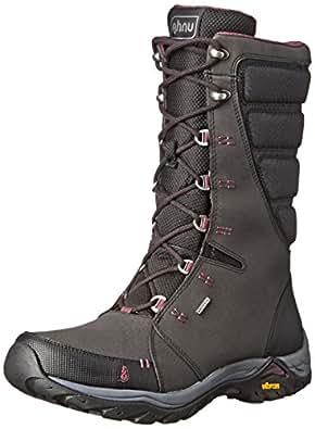 Ahnu Women's Northridge Insulated Waterproof Hiking Boot, Black, 5 M US