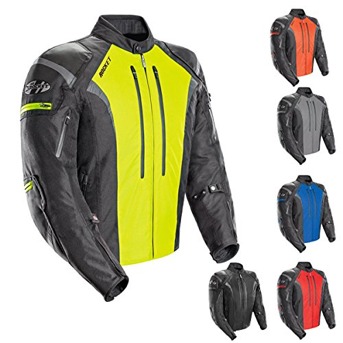 Adventure Textile Jacket (Joe Rocket Atomic Men's 5.0 Textile Motorcycle Jacket (Black,)