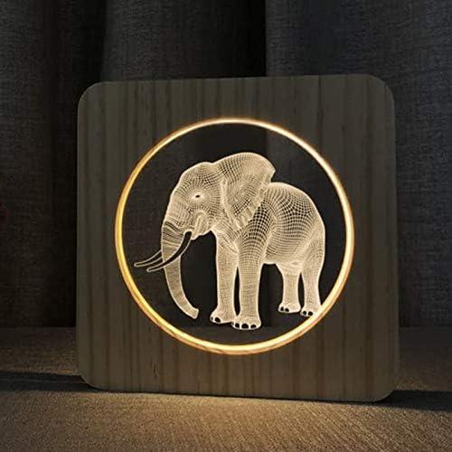 Luces de Elefante Luces de Noche Decoración de la habitación del bebé Luces cálidas de Madera Decoración del hogar Fiesta Cumpleaños Transporte de Gotas
