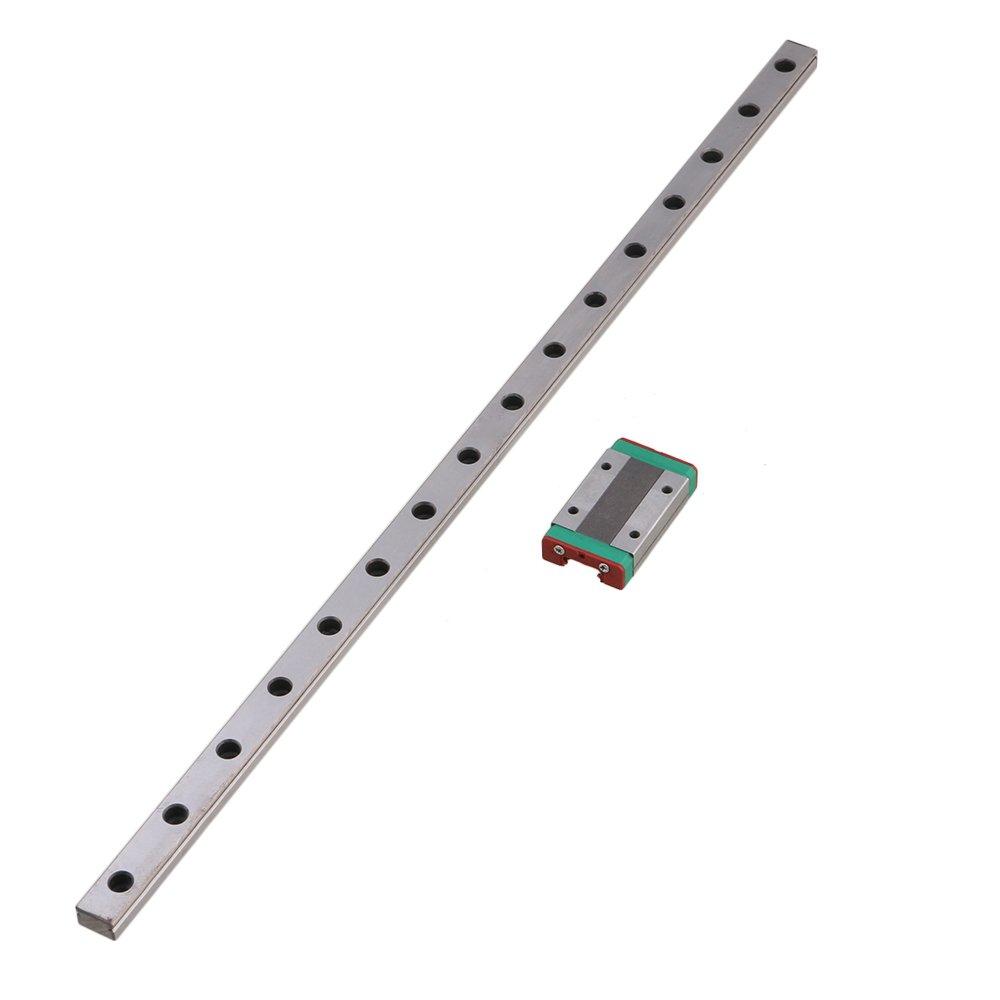 40cm MGN15 Bearing Steel Linear Sliding Guide Rails /& Block Silver set