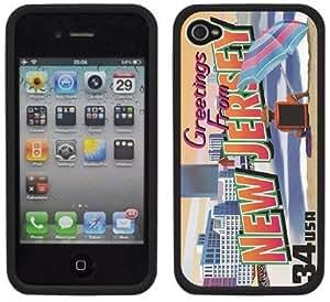 New Jersey Postcard Handmade iPhone 4 4S Black Hard Plastic Case