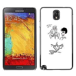 GIFT CHOICE / SmartPhone Carcasa Teléfono móvil Funda de protección Duro Caso Case para Samsung Note 3 N9000 /FUNNY - WEIRD - I KNOW YOU WANT IT/