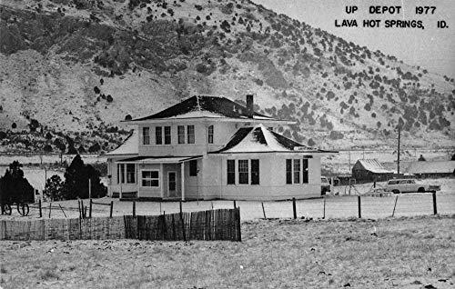 Lava Hot Springs Idaho Train Station Real Photo Vintage Postcard JA454631