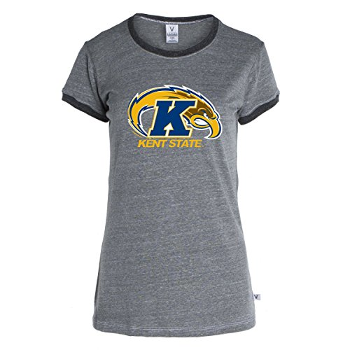 Official NCAA Kent State University Golden Flashes KSU Women's Ringer T-Shirt ()