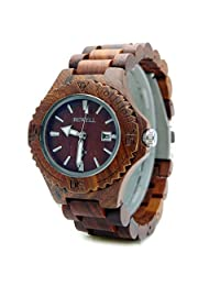 Handmade Lady Wooden Watch Made with Natural Sandalwood in Red - HGW-063