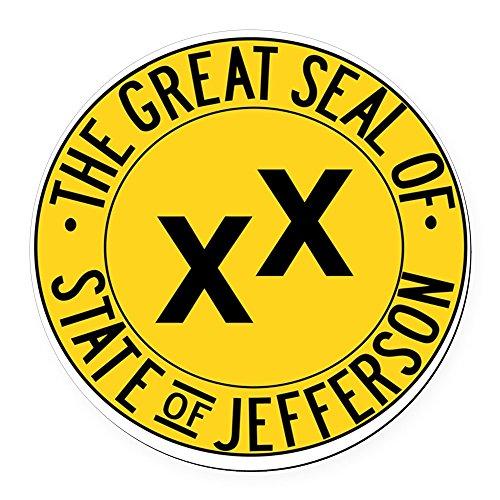 Jefferson Ball - CafePress - State of Jefferson Seal Round Car Magnet - Round Car Magnet, Magnetic Bumper Sticker