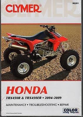 2004-2009 Honda TRX450R TRX450ER Clymer Repair Manual (Machine Diagnostic Auto)