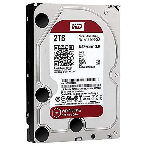 WD Red Pro 2TB NAS Internal Hard Drive - 7200 RPM Class, SATA 6 Gb/s, 64 MB Cache, 3.5