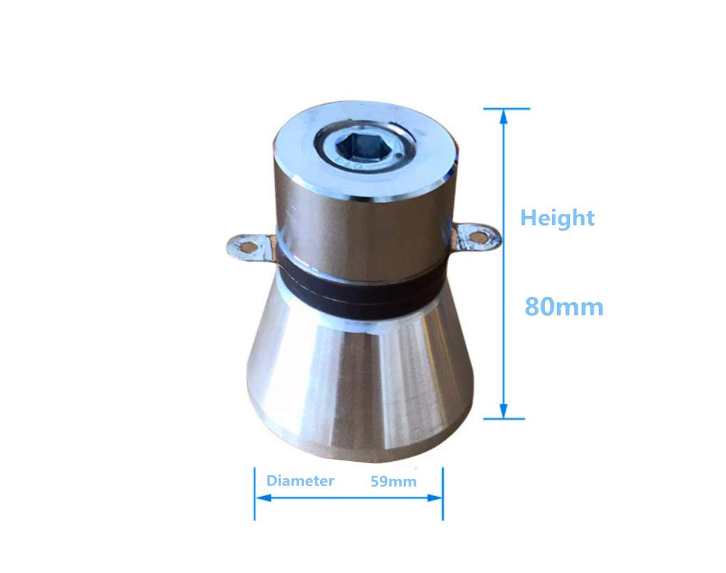 KUNHEWUHUA 25KHZ 60W High Conversion Efficiency Ultrasonic Piezoelectric Transducer Cleaner/ Capacitance(PF) 4800/±10/%