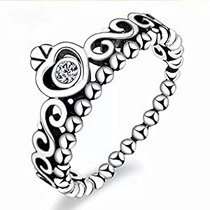 خاتم عصري أنيق فضة مطلي - زركون