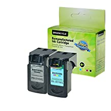 GREENCYCLE 1 Pack PG210XL Black and 1 Pack CL211XL Tri-Color High Yield Remanufactured Ink Cartridge Set with new chip Compible with Canon PG-210XL CL-211XL 210XL 211XL use in Canon PIXMA iP2700, PIXMA iP2702, PIXMA MP230, PIXMA MP240,PIXMA MP250,PIXMA MP270 MP280,PIXMA MP480,PIXMA MP490,PIXMA MP495,PIXMA MP499,PIXMA MX320 MX330,PIXMA MX340,PIXMA MX350,PIXMA MX360,PIXMA MX410,PIXMA MX420 ?Total 2 Pack,Show Ink Level?