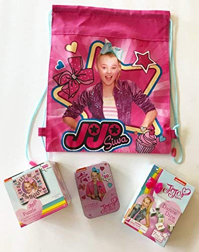 JoJo Siwa Travel FunアクティビティセットwithダンスDice Game And 2つJigsawパズルin an easy to carryスリングバッグの商品画像