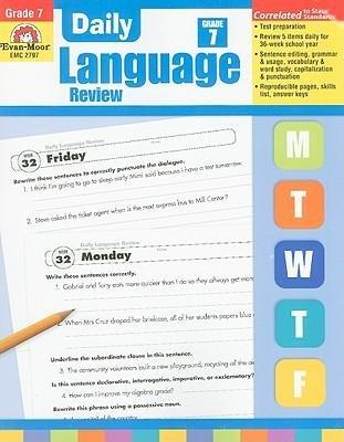 Daily Language Review Grade 8 pdf epub