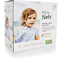 NATY Eco-Sensitive Wipes Triple Pack, Unscented, 168 Count