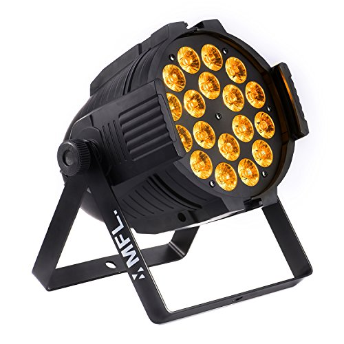 - MFL LED Par Light 18x15W RGBW + Amber DJ Lights for Party Nightclub Stage Concert