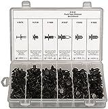 175 Piece Black Nylon Push-Type Retainer Assortment