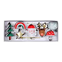 Meri Meri Festive Icons Cookie Cutters - Set of 7 - Stainless Steel with Precise Cutting