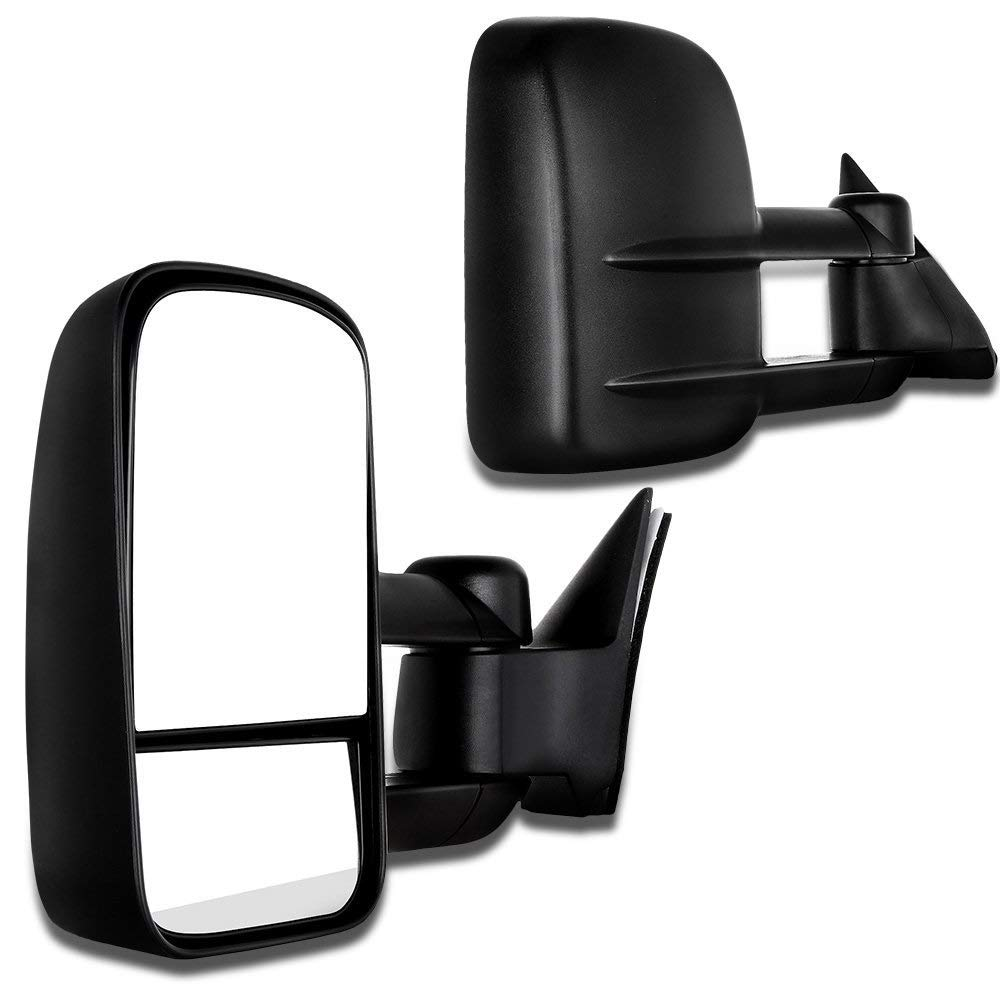 SCITOO Towing Mirrors Compatible fit for 2007-2014 Chevy GMC Silverado Suburban Towing Door Side Mirrors Pair Set Mirrors (07-14 Power Heated)