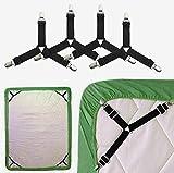 TGOOD 4 PCS Bed Sheet Holder Straps,3 Way