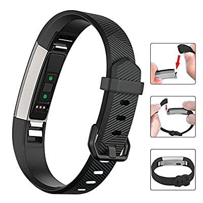 Oitom Fitbit Alta Band and Alta HR Band, Newest Adjustable Replacement Wristband Strap with Secure Metal Clasp Buckle for Fitbit Alta HR and Fitbit Alta Smart Fitness Tracker( Pack 6 B,Large)