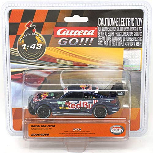 Carrera 64089 GO!!! BMW M4 DTM, Marco Wittmann, No.11 Slot Car Vehicle (1:43 Scale) from Carrera