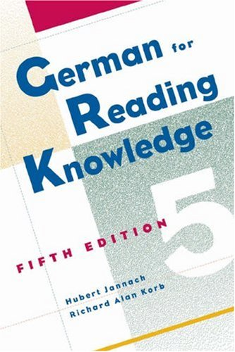 German for Reading Knowledge, 5th Edition -  Hubert Jannach, Paperback