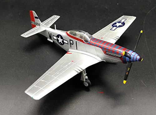 2 P51D Mustang fighter plane non diecast Airplane collection Easy Model Pre-builded ()