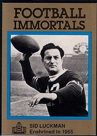 Amazon.com  Football NFL 1985-88 Football Immortals  72 Sid Luckman ... 4247f2eb1