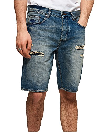 Superdry Men's Loose Denim Shorts (Market Mid Warn, 34) by Superdry