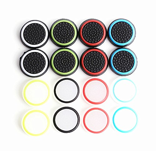 Silicone-Thumb-Grips-Thumb-Stick-Caps-Thumbstick-Covers-For-PS4-PS3-Xbox-One-Xbox-360-Wii-U-Controllers-8-Pairs16-Pack-RELIAN