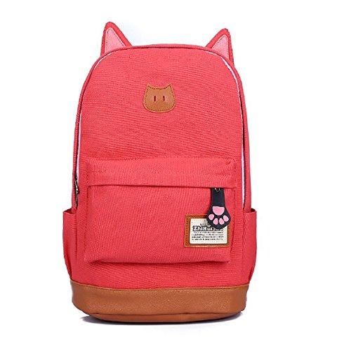 Katomi super süß Katze Ohr Design Mittelschule Stil Damen Dame Mädchen Rucksack für die Schule Camping Tasche Reise Laptop-Multifunktions
