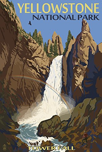 Yellowstone National Park, Wyoming - Tower Fall (16x24 Giclee Gallery Print, Wall Decor Travel Poster)