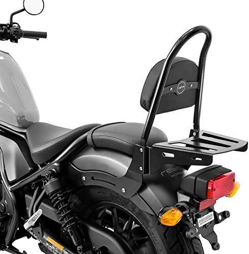Hecktasche f/ür Honda Rebel 500 17-21 mit Gep/äcktr/äger Sissybar CSM