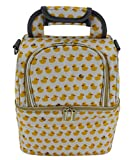 Insulated Lunch Box Large Capacity Cooler Tote Bag for Women Men With Adjustable Shoulder Strap & Ice Packs,Yellow