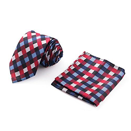 Farmunion Tie Handkerchief Men's Fashion Necktie & Pocket Square Set