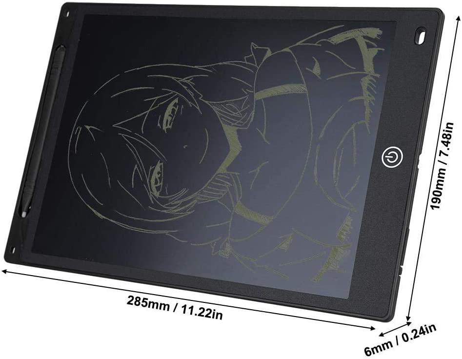 Jacksking Writing Tablet 12in LCD Writing Electronic Writing Drawing Board Doodle Pad Graphics Tablet Black