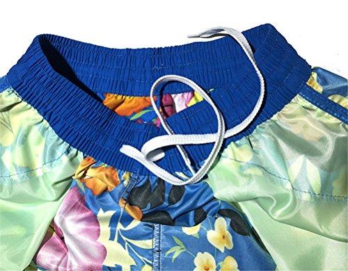 con di grandi Quick Pantaloncini Shorts dimensioni da Dry Blu FuweiEncore donna stampa floreale spiaggia waH0apx