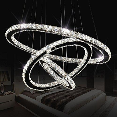 Modern Crystal Chandeliers 3 Rings (11.8