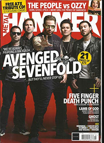 METAL HAMMER MAGAZIN ISSUE, 310 JULY, 2018 SORRY FREE A7X CD NOT INCLUDE