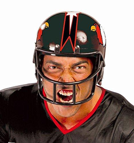 AMERICAN FOOTBALL HELM - schwarz, 59 cm, Nationalsport Sportart Player Spieler Sportler Quarterback NFL USA Trikot Cheerleader Ballspiele